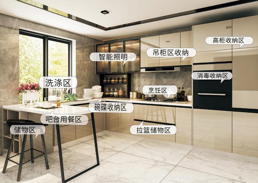 可可慕斯-整体橱柜-家居产品装修效果图_美尼美定制产品中心