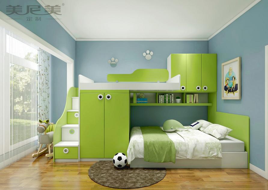儿童房上下高低床
